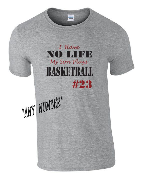 Funny Personalized Basketball Mom Shirt. Basketball mom tshirt.   I have no life, my son plays Basketball.  I have no life shirt. Custom tee