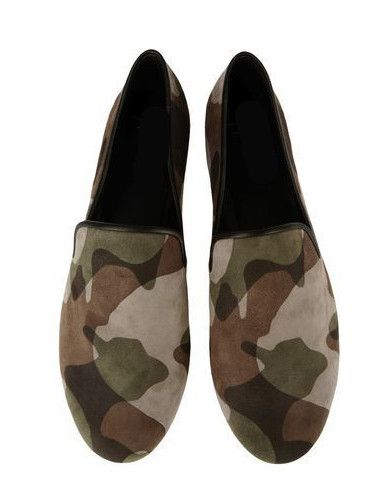 Men Camouflage Color Flat Shoes Slip-on Tenis Masculinos Comfortable Suede Leather Creepers Zapatos Hombres Men Loafers(China (Mainland))