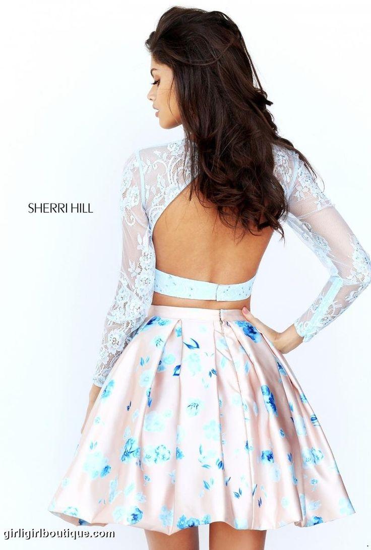 We love this light blue/nude print. #GirliGirl #Homecoming #SherriHill