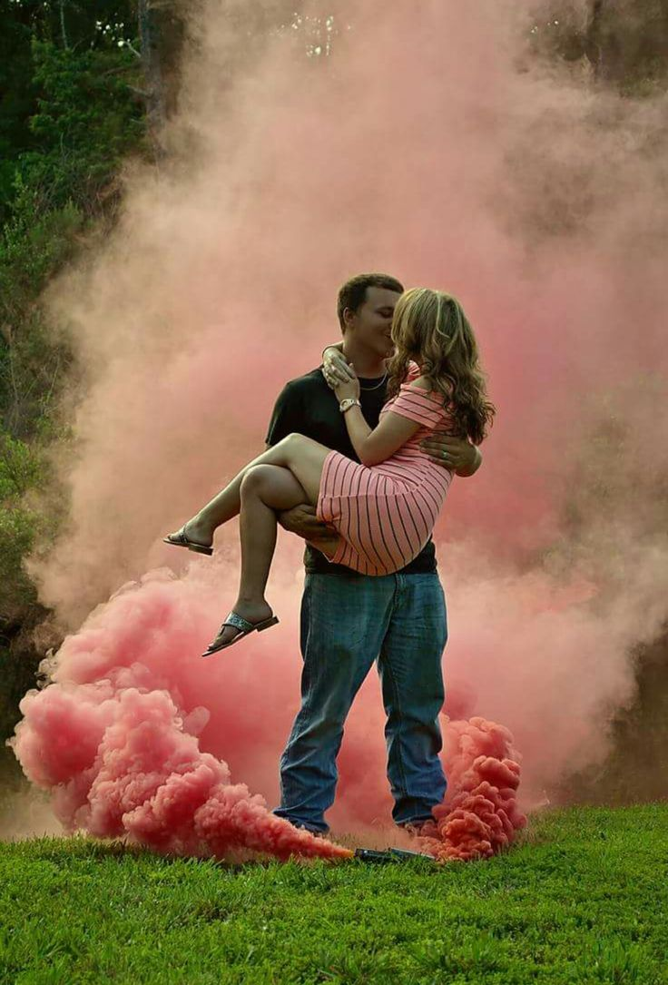 Great idea for gender reveal!