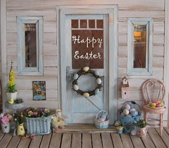 Outdoor design outdoor easter decoration veranda design for How to make easter decorations for the home