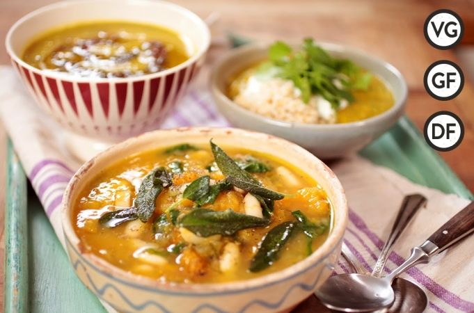 Easy Vegetable Soup - Three Ways - with Apple and Celeriac Soup