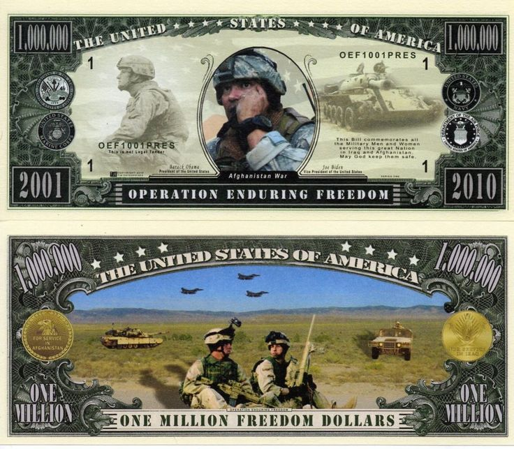Details about Operation Enduring Freedom Million Dollar Bill