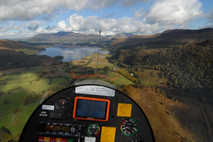 A Gyrocopter Flight Over The English Lake District.    Gyrocopters for Sale at: http://www.goldmedal100.com/gyrocopter.htm