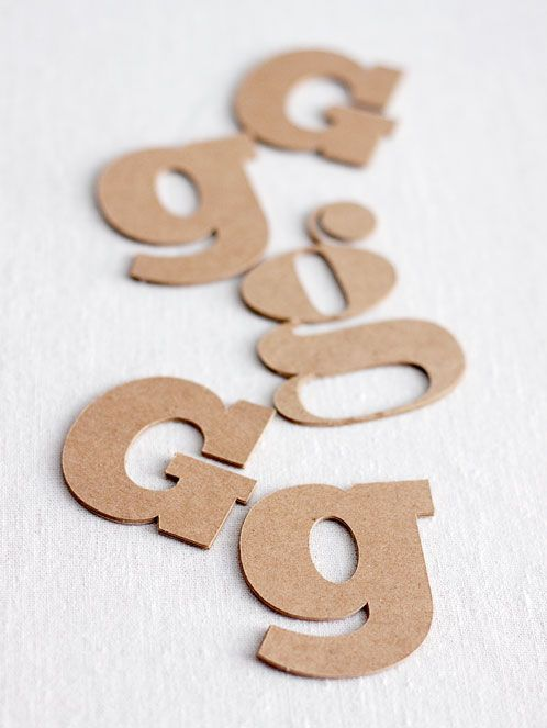 Chipboard Letters Ideas ~ How to make custom quot chipboard letters types of