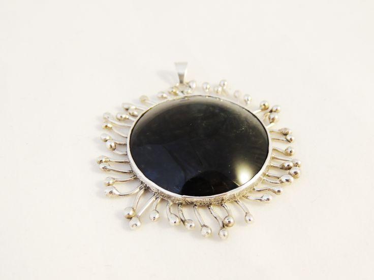 Obsidiana y plata 925