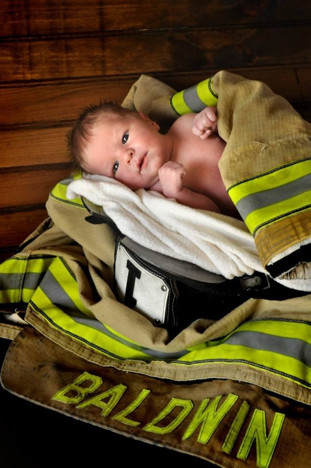 Shutterbug Photography by Fritz Brueggeman Firefighter baby