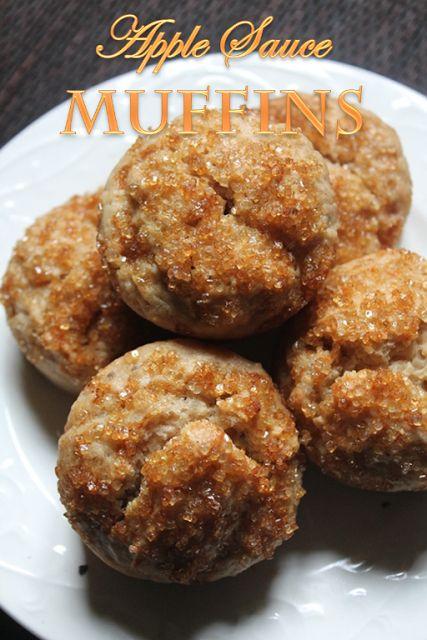 YUMMY TUMMY: Apple Sauce Muffins Recipe - Eggless Apple Muffins Recipe