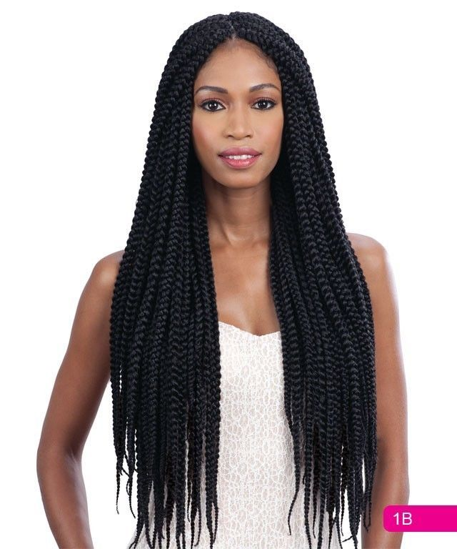 Freetress Braid Synthetic Braidng Hair. Crochet & Latch Hook Braid. This hair does. Made with Premium Fiber. LONG LARGE BOX BRAIDS.