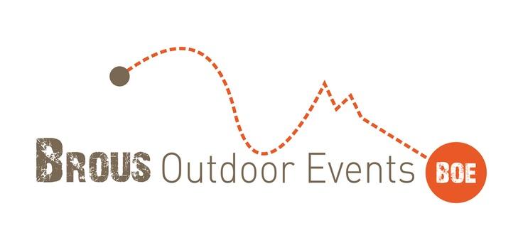 Logo voor Brous Outdoor Events. Brous Outdoor Events organiseert outdoor activiteiten in Nederland en Belgie. Zie ook  www.brousoutdoorevents.be