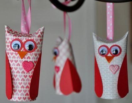 diy valentine craft - cute & easy paper roll owls