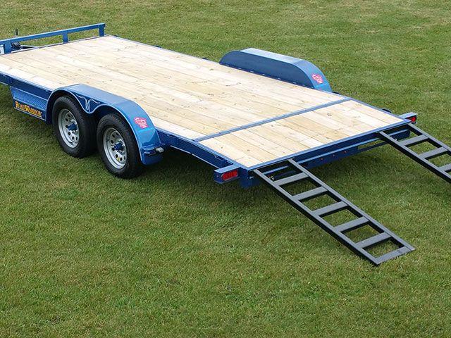 Wood Floor Car Hauler Trailer Johnson Trailer Co Car Hauler Trailer Towing Trailer Trailer Deck
