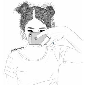 my first outline We Heart It · Outline DrawingsGirl