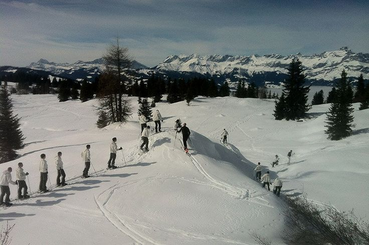 Snow Warriors - French Chasseurs Alpins during basic training.