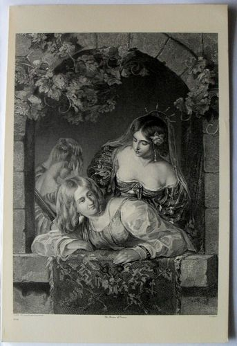 $24.99  THE ART Journal Steel Engraving Print THE Brides OF Venice BY A Linley | eBay
