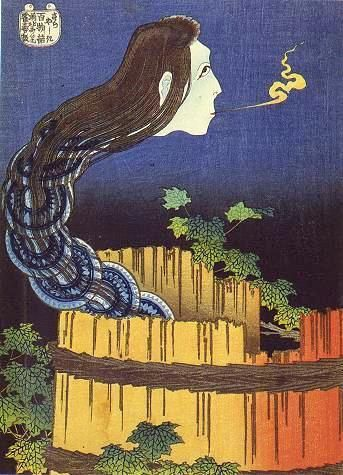 Sarayashiki by Hokusai During O-Bon (お盆), celebrated these days in Japan, spirits are said to leave their rest and revisit their relatives.. #spirits #japan #japanese #art from the far #east