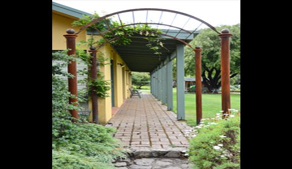 Garden Arbour  Garden arbour, also referred to as a trellis, is a framework that is traditionally positioned at the entrance of a garden.