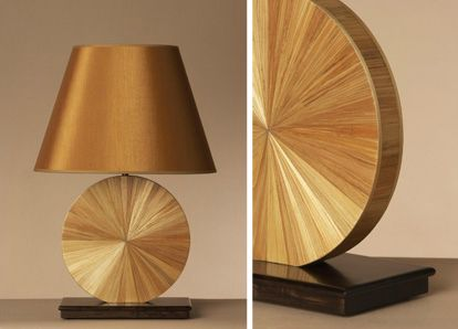Awesome Straw Marquetry lamp H53