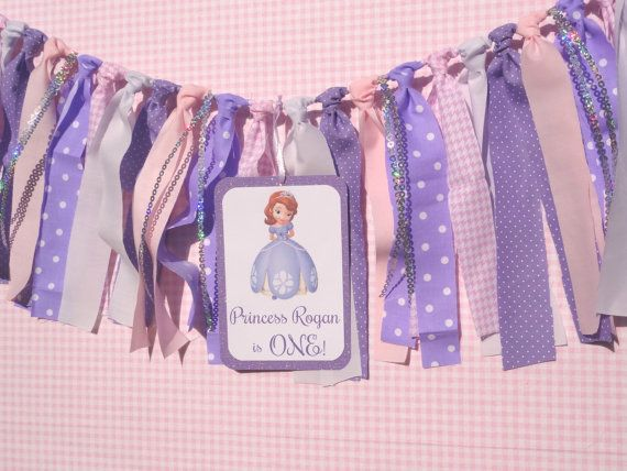 Sofia the First Inspired Birthday Banner/ Decor by apetitesoiree, $29.50