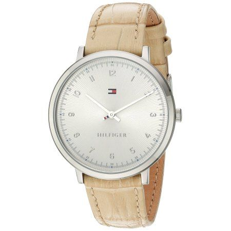 Tommy Hilfiger Leather Ladies Watch 1781765, Size: 35 mm, Silver