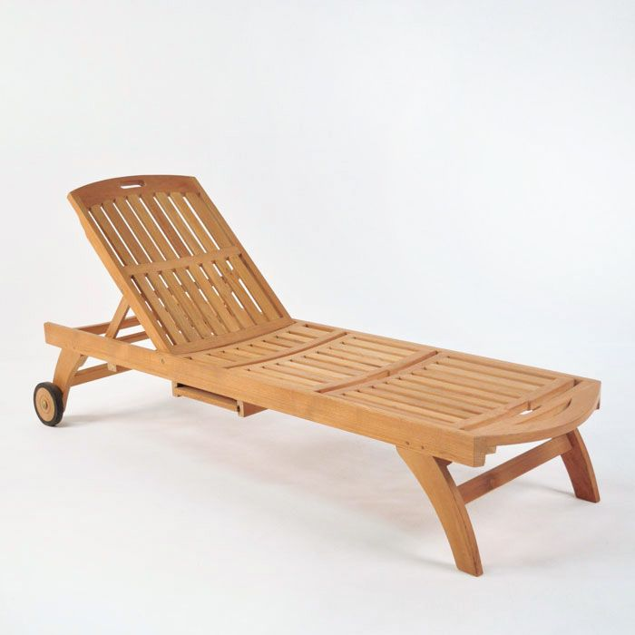 The Maui Teak Sun Lounger Features A Pull Out Martini Tray And Has Wheels!