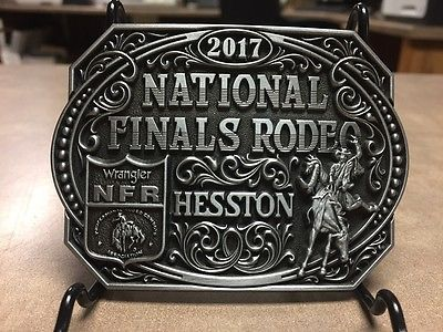 NEW!!!!  2017 Hesston National Finals Rodeo Adult Belt Buckle