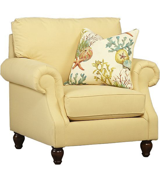 This #pastel Yellow #havertys Coral Bay Chair Looks So Cheerful!
