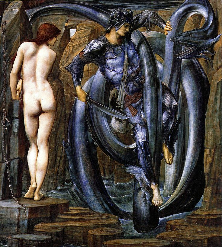"Edward Burne-Jones, ""The Doom Fulfilled"" from ""The Perseus Cycle (1884-1885), Oil on canvas, Staatsgallerie Stuttgart"