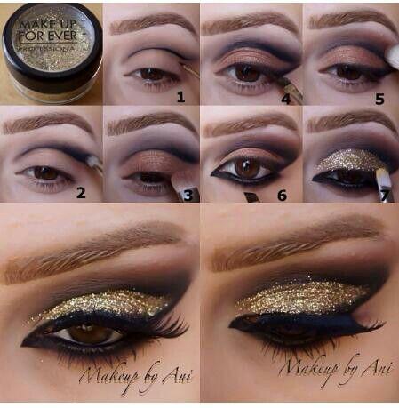 Gold Glitter Eyeshadow Tutorial