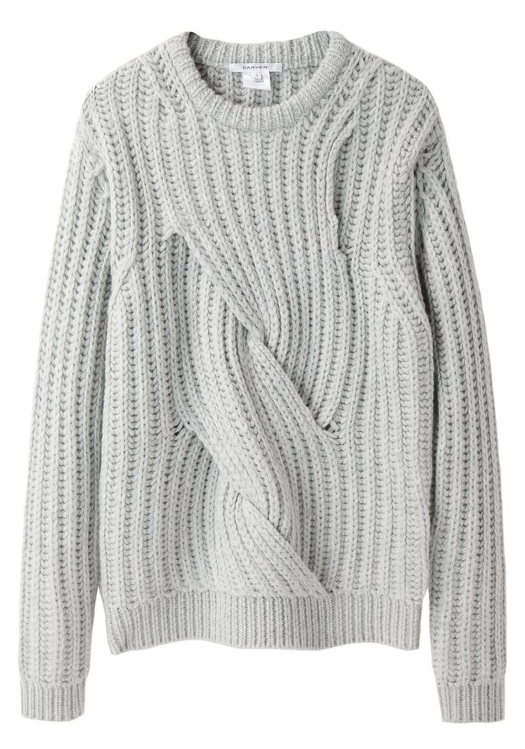 Twisted Knit by Carven. -- definitely gotta figure out how to make this.