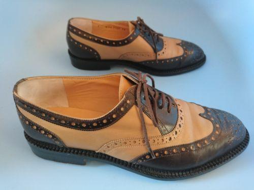 Robert-clergerie-cuir-richelieu-a-chaussures-taille-7-uk-5-eu-38-deux-tons-marron-beige