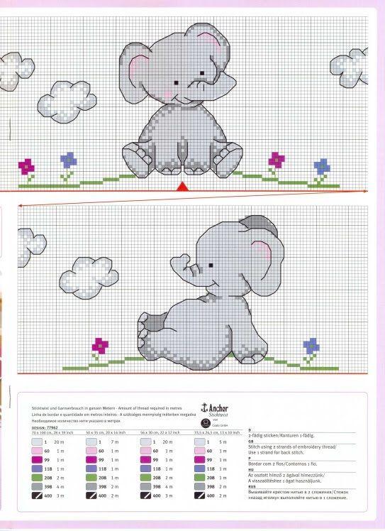 Gráficos de Ponto Cruz e Croché: Bebe