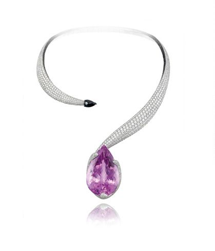 Chopard Red Carpet Collection Kunzite and Diamond Necklace