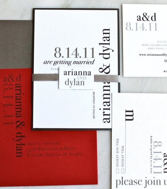 Urban Elegance  Modern Wedding Invitations  Black by BeaconLane, $6.00