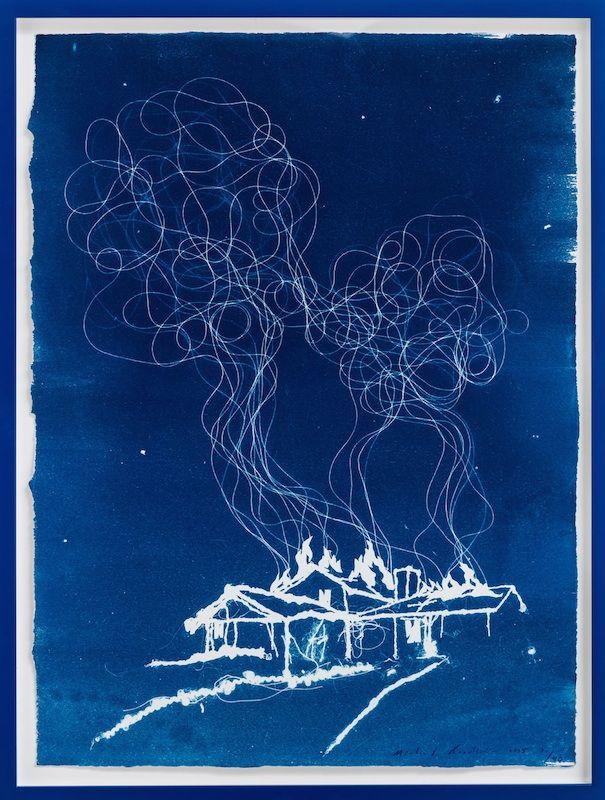 Michael Raedecker - cyanotype