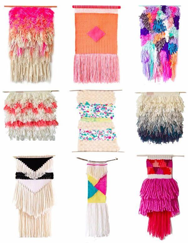 Wool wall hangings #wall #hangings #decoration