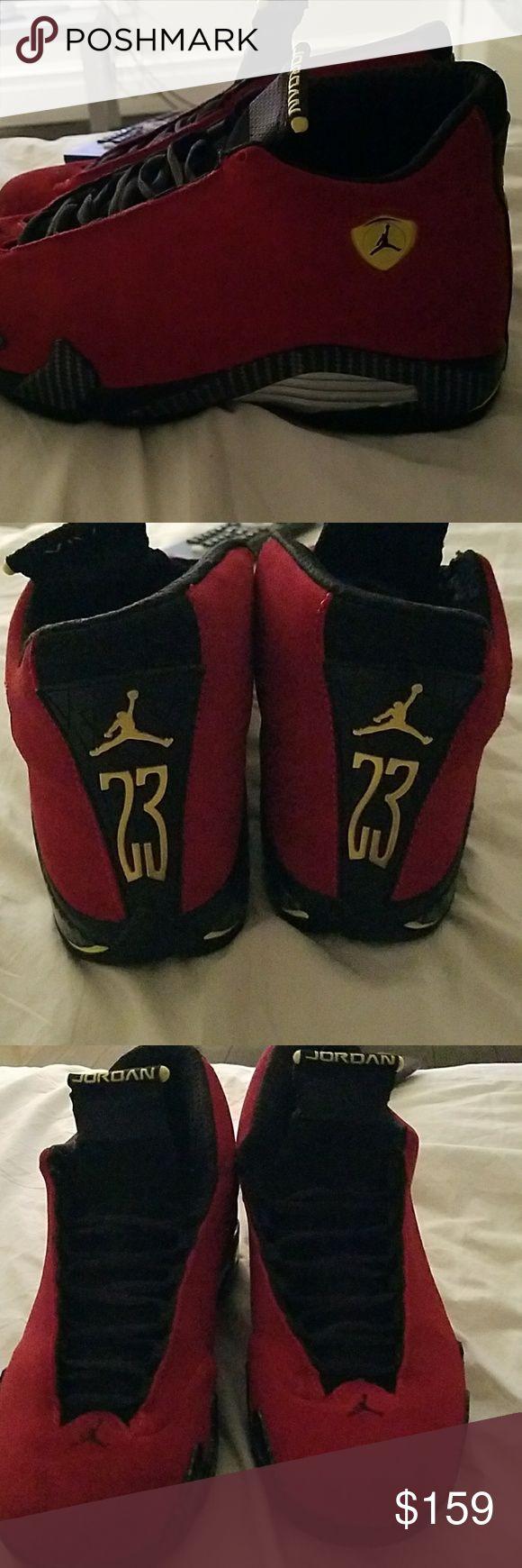 Air jordan retro 14 ferraris Brand New Pair Air Jordan fire red Ferraris hard sneaker to get air jordan Shoes Sneakers