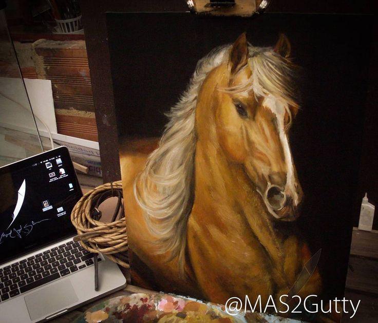 Brillo  Oil/Wood Oleo/Madera #caballo #cavalier #cavalo #horse #pasofino…