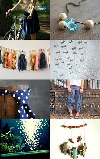 autumn blues by Petite Marie on Etsy--Pinned with TreasuryPin.com