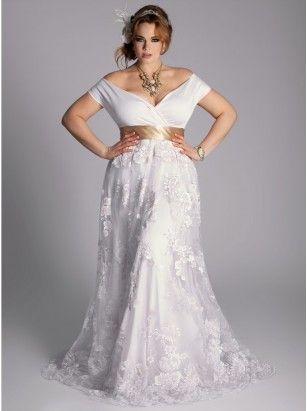 White plus size dress would also make a pretty casual wedding dress