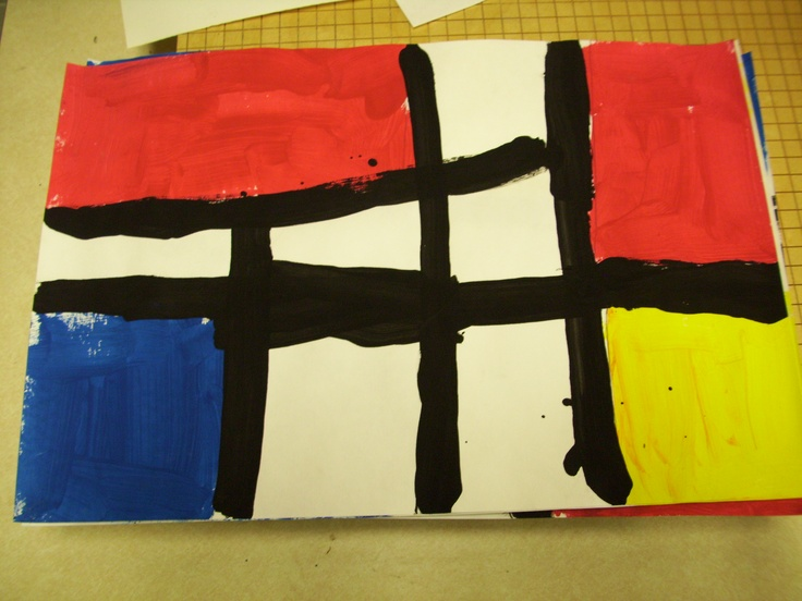 Mondrian Primary Colors Shape Line Kindergarten Art