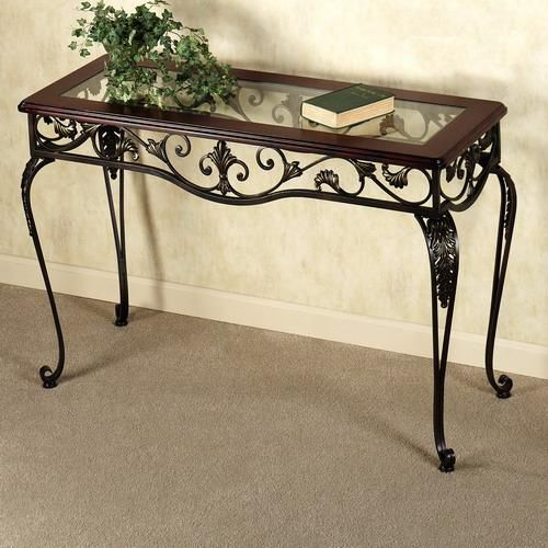 562 best wrought iron ornaments and furniture images on for Wrought iron wood coffee table