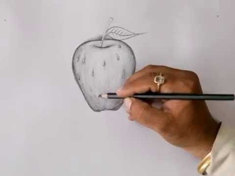 How to Draw a Apple for Kids   Easy Things to Draw  Sai Rajesh