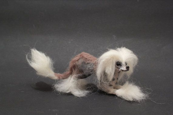 OOAK Miniature Chinese Crested Dog  I'm ready to play by malga1605