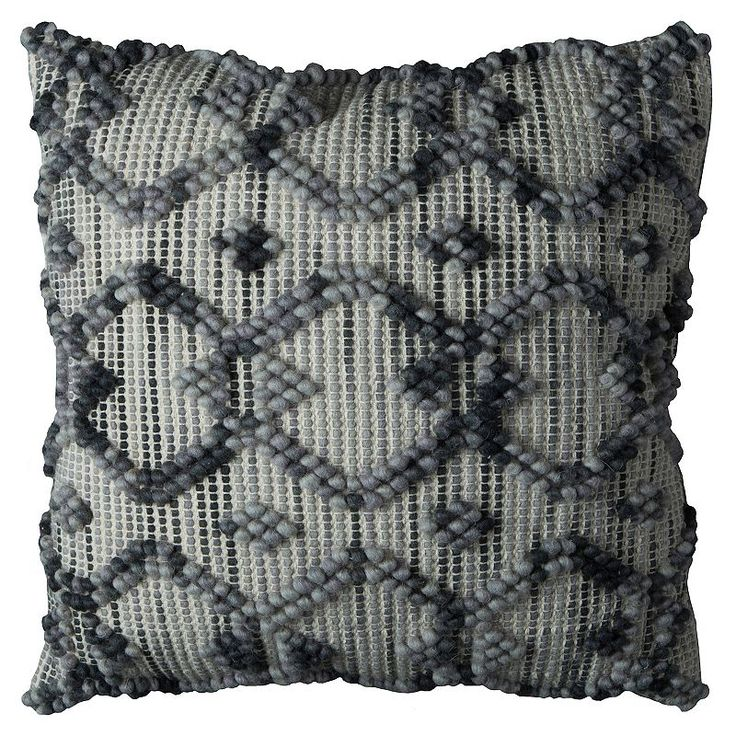 Rizzy Home Textured Intertwined Diamond Geometric Throw Pillow, Multicolor