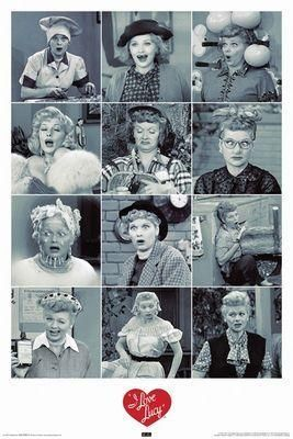 I Love Lucy Faces Lucille Ball Poster