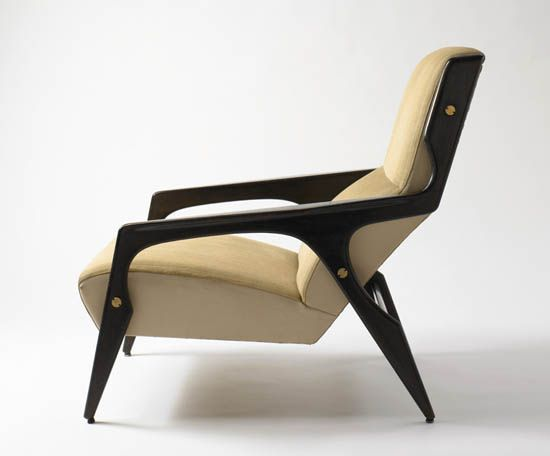 Armchair, 1964 by Gio Ponti (ebonised ash frame). A designer with a true understanding of geometry/balance