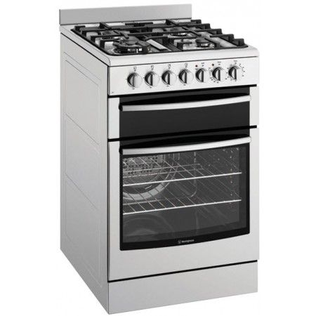 Westinghouse - 54cm Freestanding Cooker, Electric Oven & Grill, Gas Cooktop, Stainless Steel