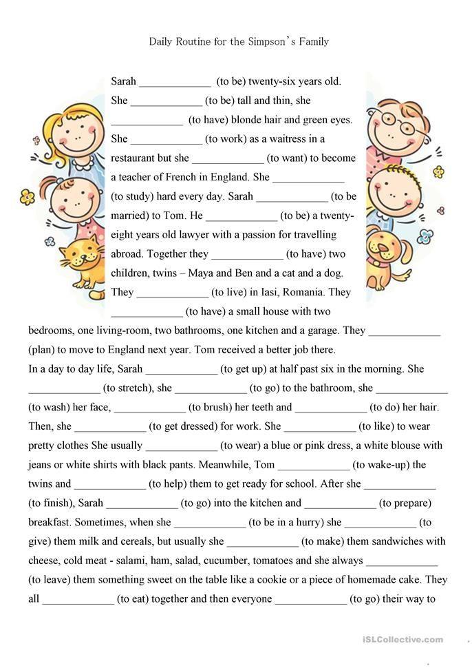 present simple and present continuous exercises pdf intermediate