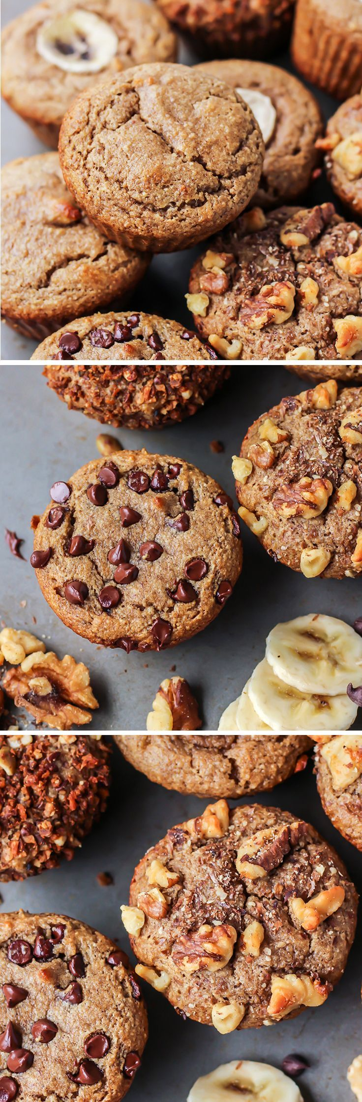 Simple Paleo Banana Muffins using almond flour, nut butter, bananas and an egg. Easy, one bowl with no oil and no added sugars.  >> These are a definite must!!